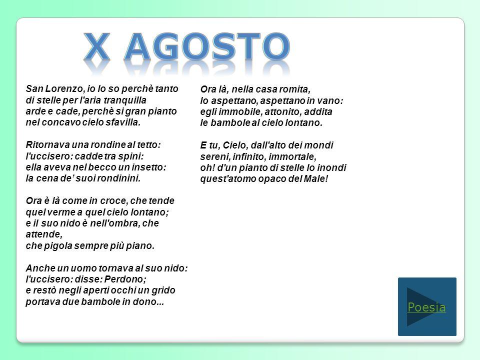 X Agosto Poesia San Lorenzo, io lo so perchè tanto