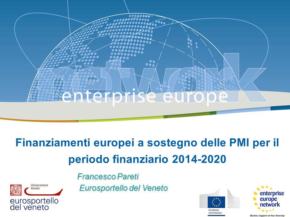 Finanziamenti europei a sostegno delle PMI per il periodo finanziario 2014-2020