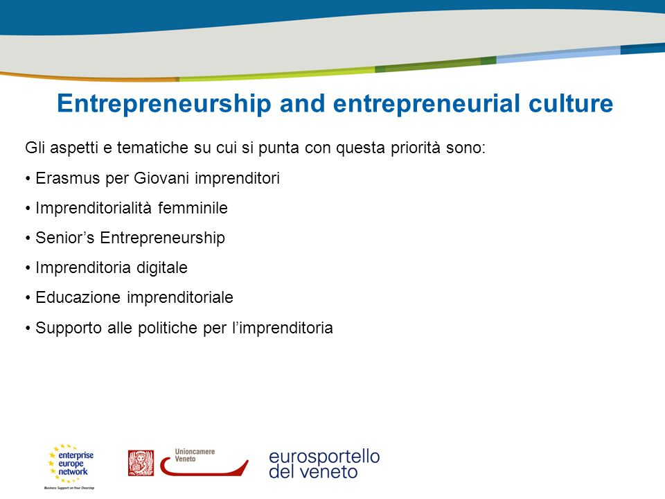 Entrepreneurship and entrepreneurial culture