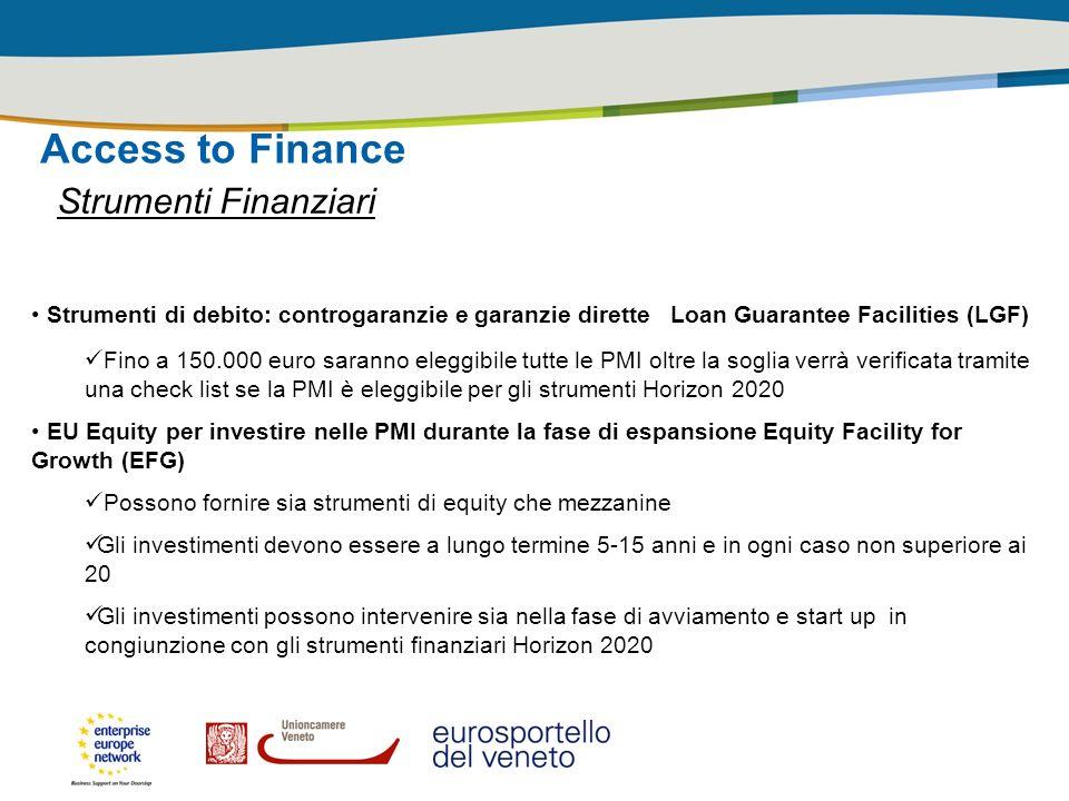 Access to Finance Strumenti Finanziari
