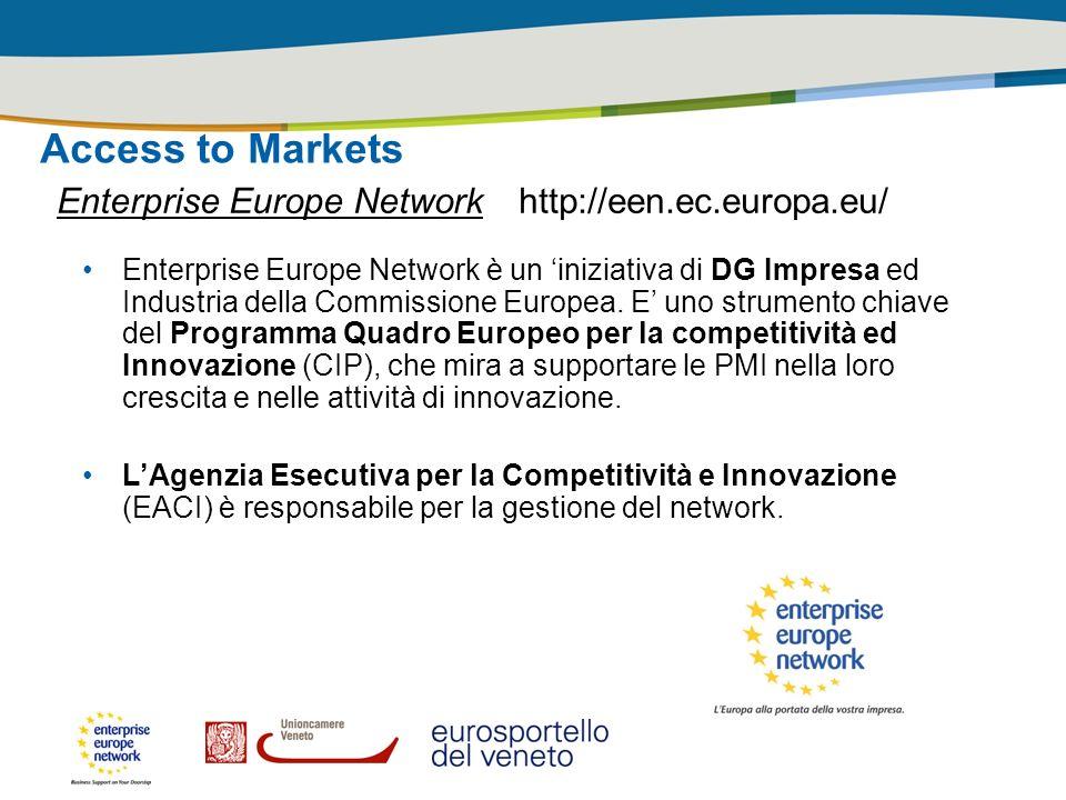 Access to Markets Enterprise Europe Network http://een.ec.europa.eu/