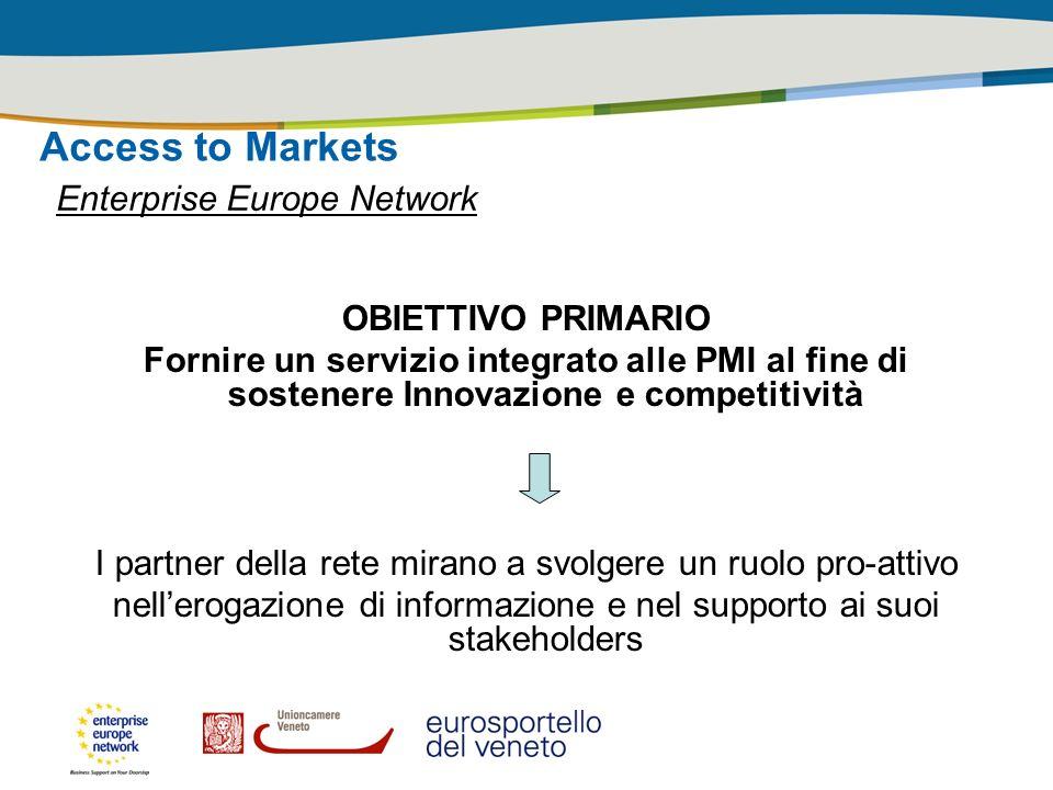 Access to Markets Enterprise Europe Network OBIETTIVO PRIMARIO
