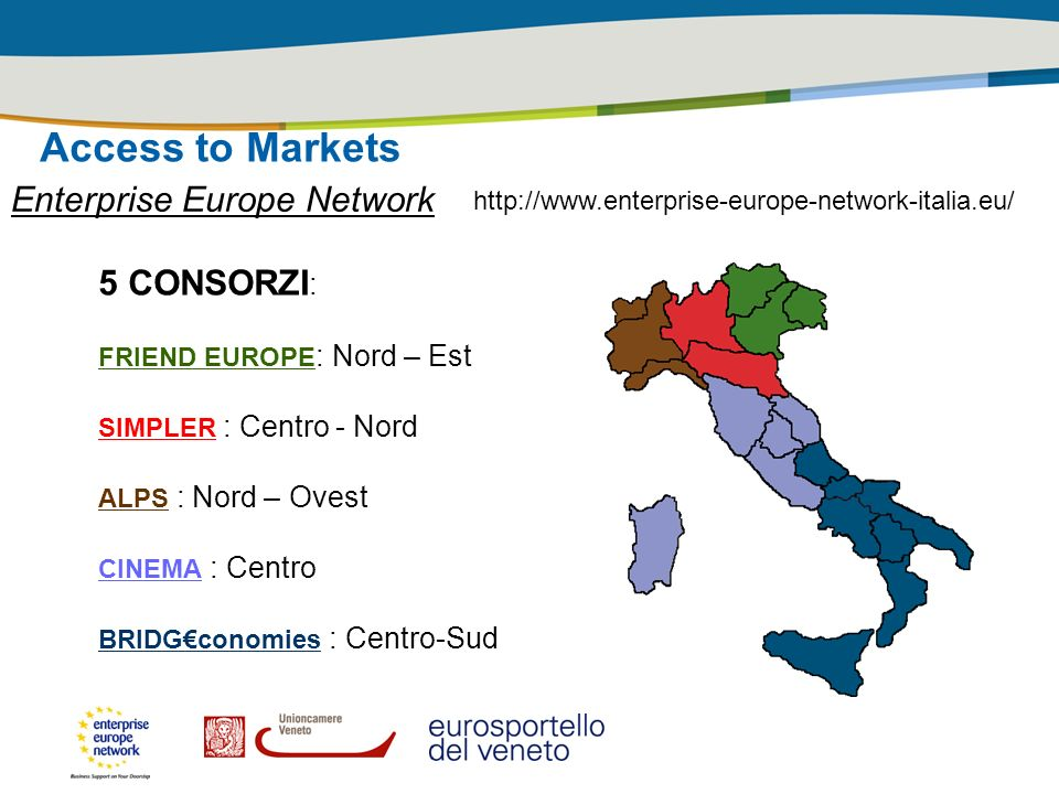 Access to Markets Enterprise Europe Network 5 CONSORZI: