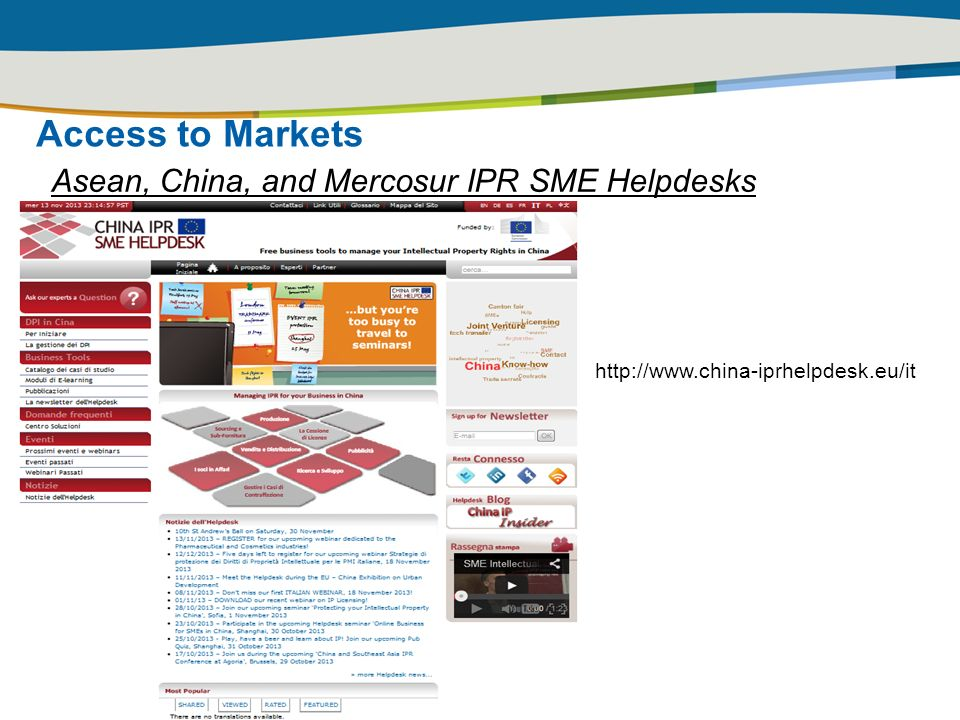 Access to Markets Asean, China, and Mercosur IPR SME Helpdesks