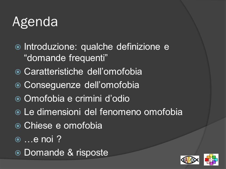 Agenda Introduzione: qualche definizione e domande frequenti