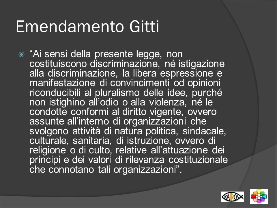 Emendamento Gitti