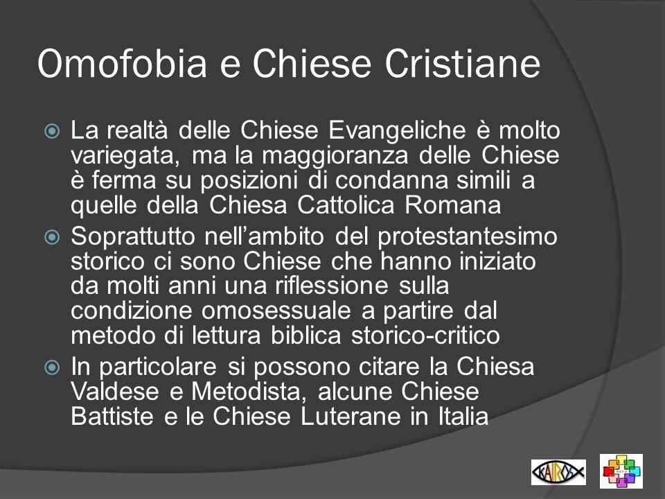 Omofobia e Chiese Cristiane