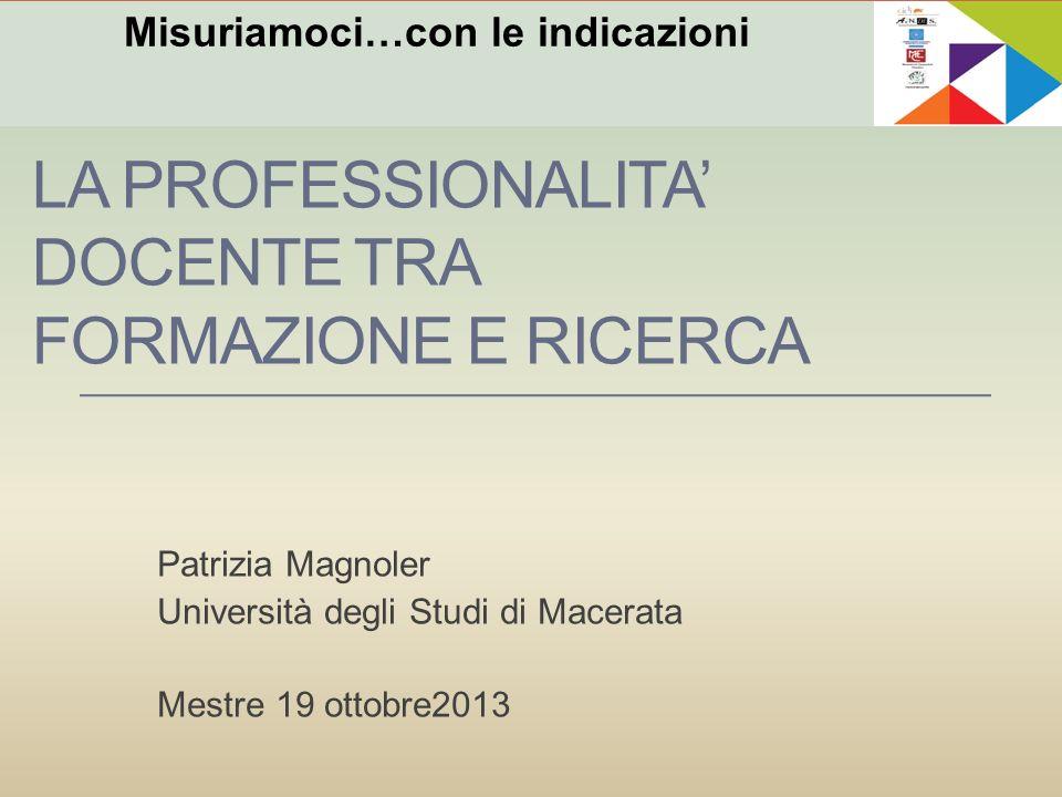 La professionalita' docente tra formazione e ricerca