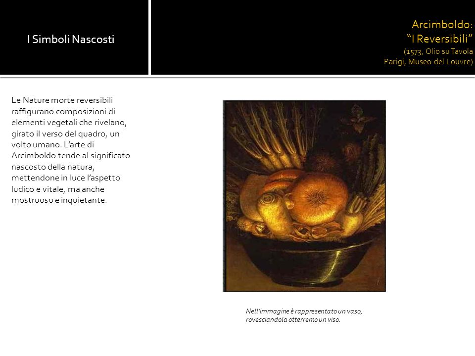 Arcimboldo: I Reversibili (1573, Olio su Tavola Parigi, Museo del Louvre)
