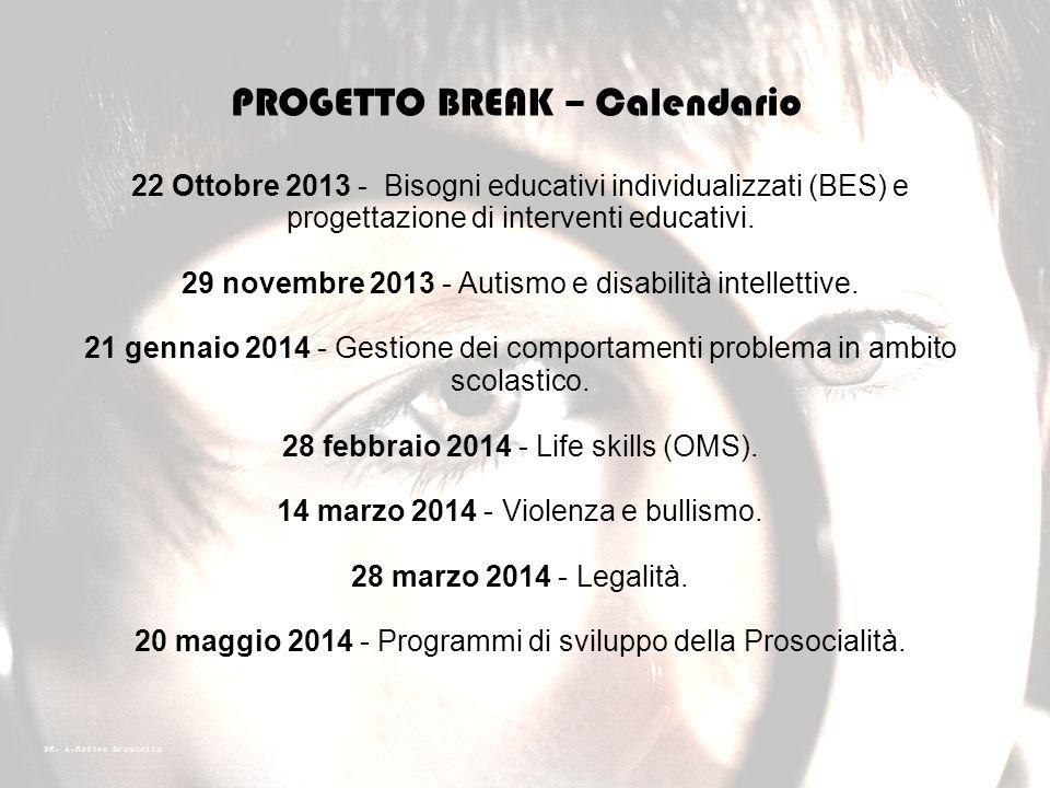 PROGETTO BREAK – Calendario