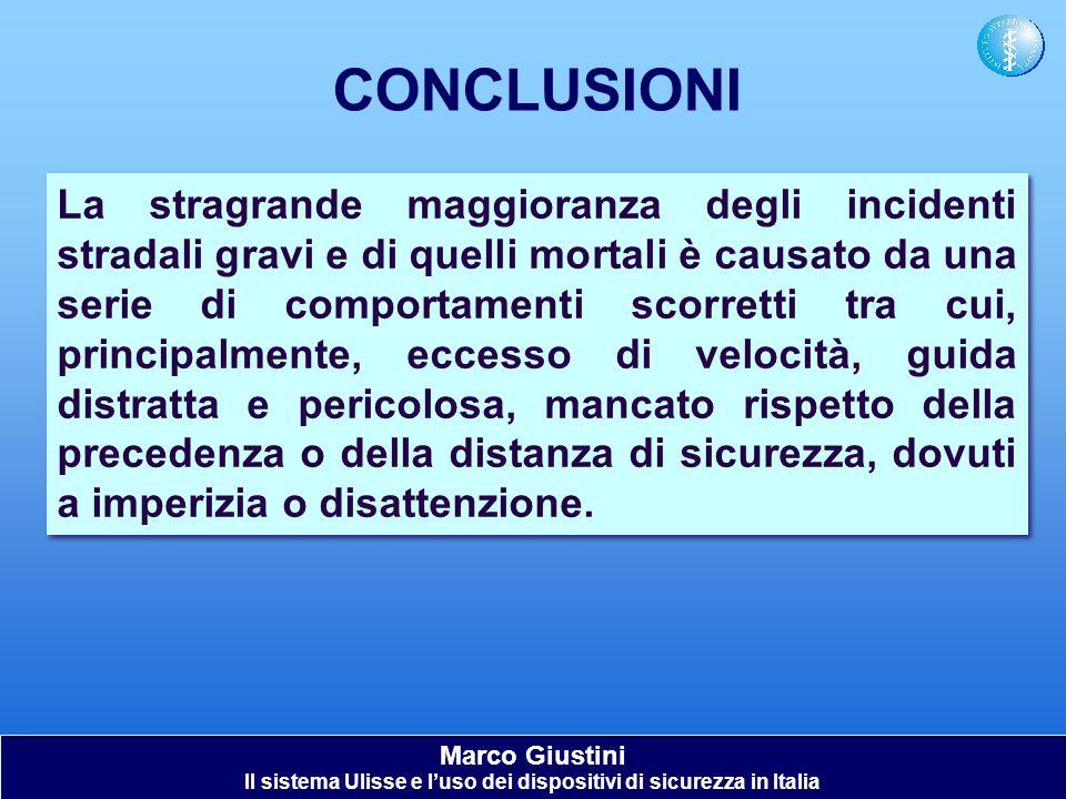 Il sistema Ulisse e l'uso dei dispositivi di sicurezza in Italia