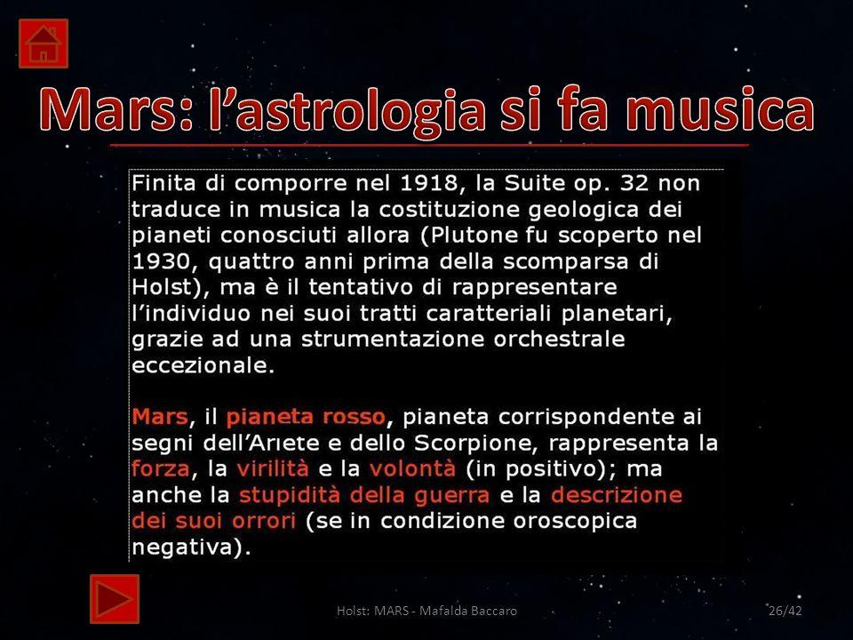 Mars: l'astrologia si fa musica