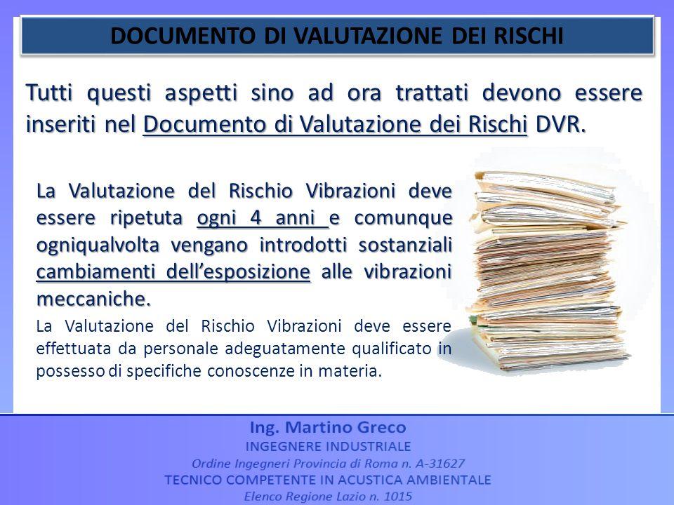DOCUMENTO DI VALUTAZIONE DEI RISCHI