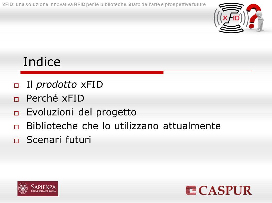 Indice Il prodotto xFID Perché xFID Evoluzioni del progetto