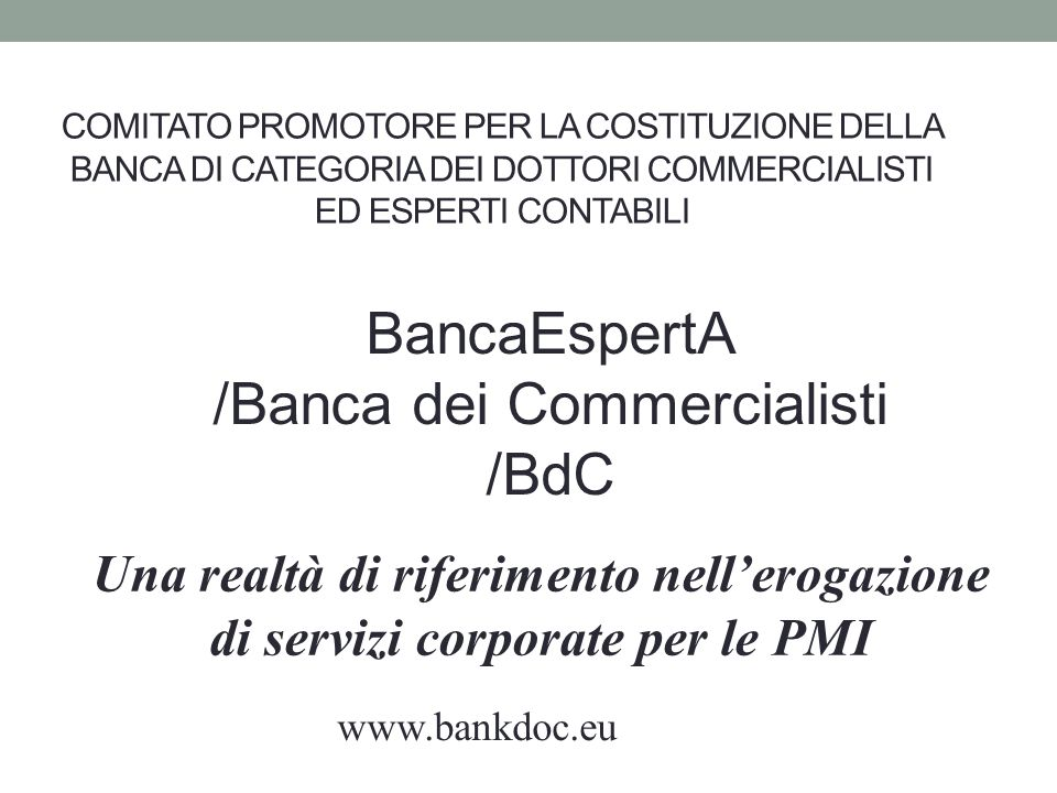 BancaEspertA /Banca dei Commercialisti /BdC