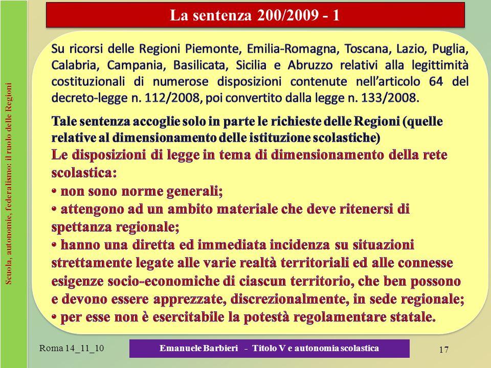 Scuola, autonomie, federalismo: il ruolo delle Regioni