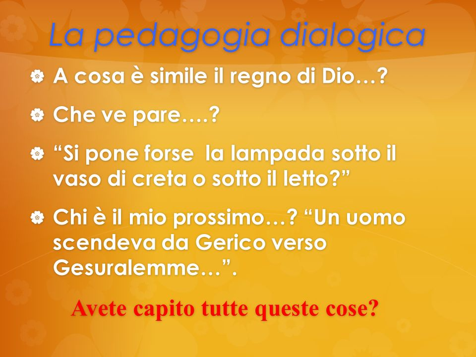 La pedagogia dialogica