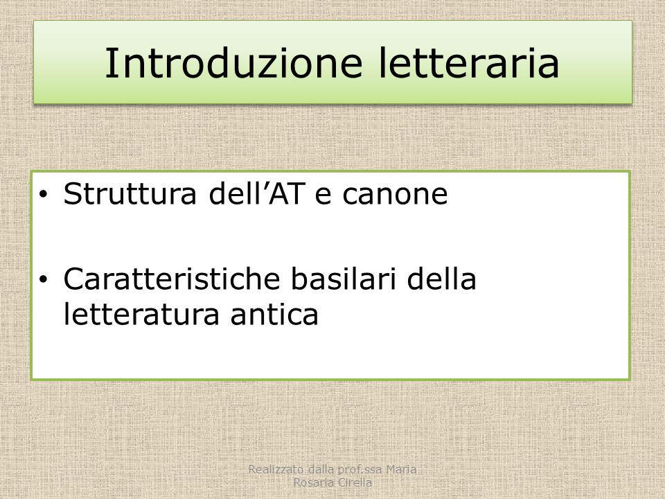 Introduzione letteraria