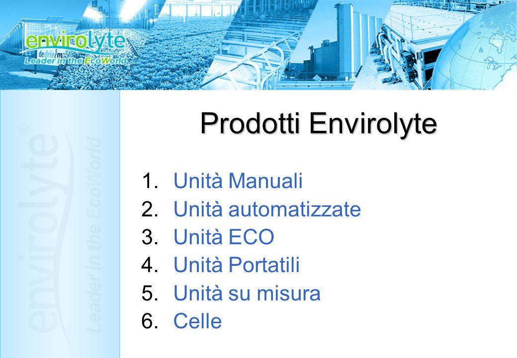 Prodotti Envirolyte Unità Manuali Unità automatizzate Unità ECO