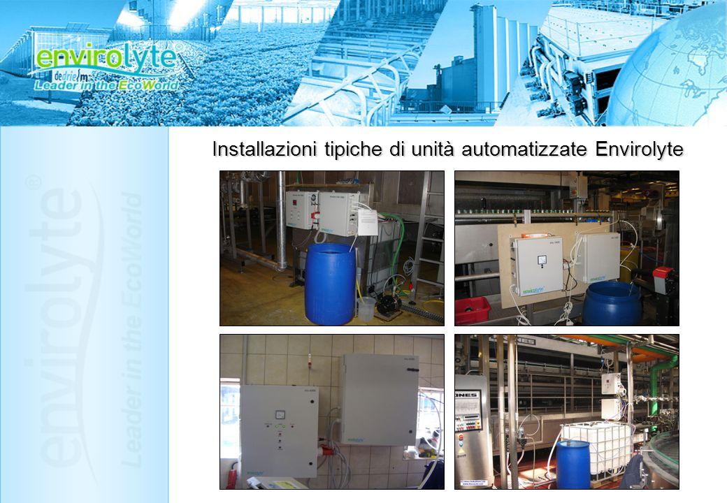 Installazioni tipiche di unità automatizzate Envirolyte