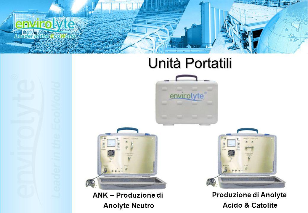Unità Portatili ANK – Produzione di Produzione di Anolyte