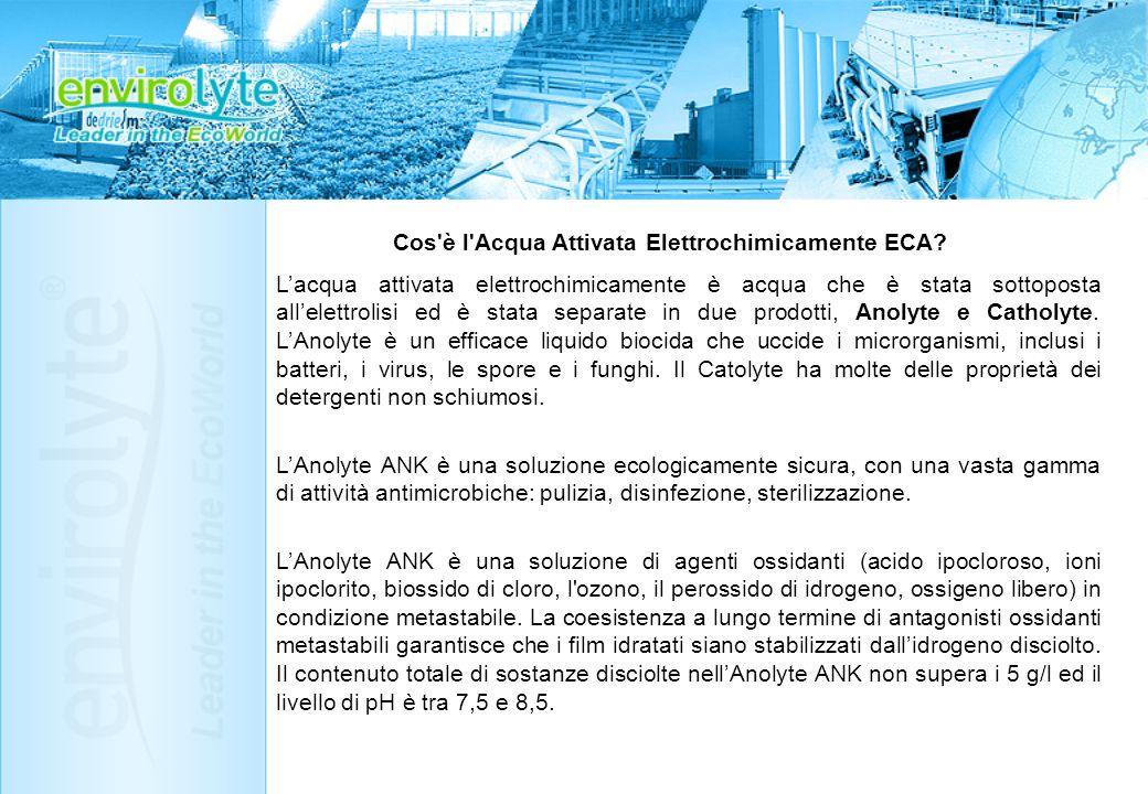 Cos è l Acqua Attivata Elettrochimicamente ECA