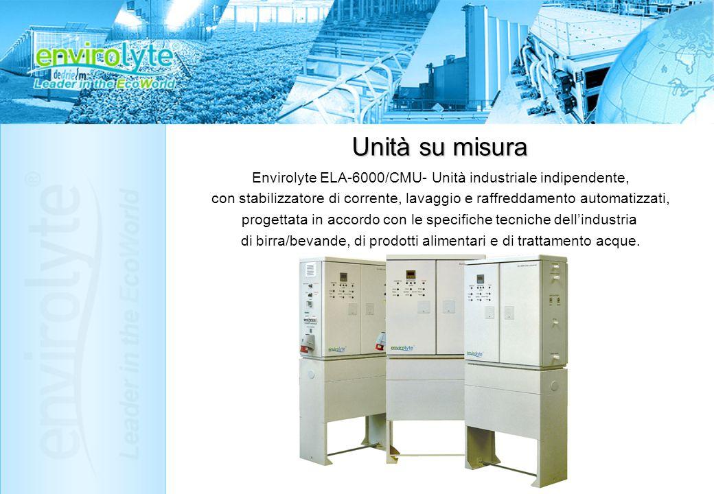 Unità su misura Envirolyte ELA-6000/CMU- Unità industriale indipendente, con stabilizzatore di corrente, lavaggio e raffreddamento automatizzati,