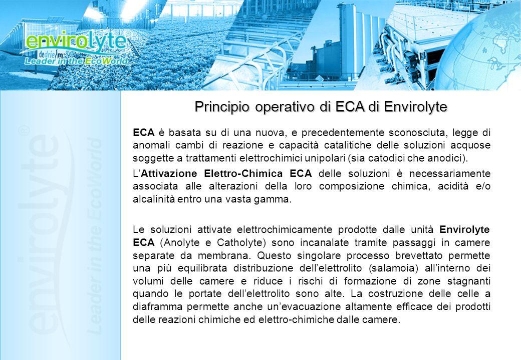 Principio operativo di ECA di Envirolyte