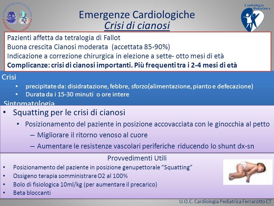 Emergenze Cardiologiche Crisi di cianosi