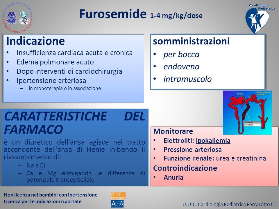 Furosemide 1-4 mg/kg/dose