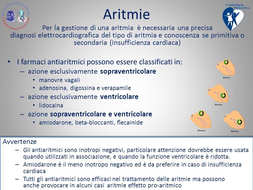 Aritmie I farmaci antiaritmici possono essere classificati in: