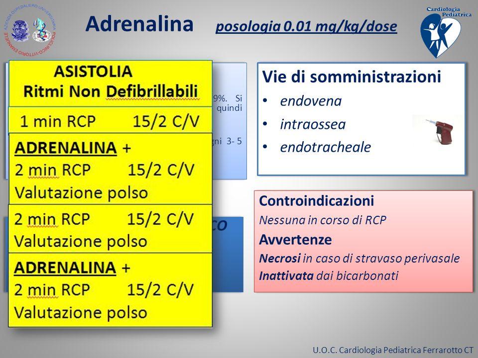 Adrenalina posologia 0.01 mg/kg/dose
