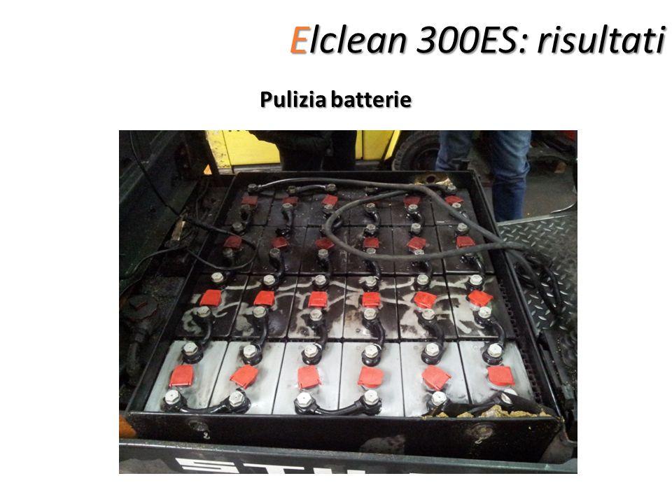 Elclean 300ES: risultati Pulizia batterie