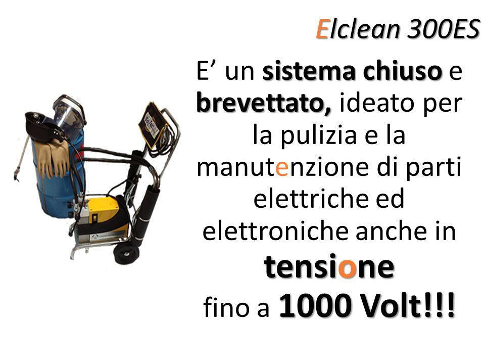 Elclean 300ES E' un sistema chiuso e brevettato, ideato per la pulizia e la manutenzione di parti elettriche ed elettroniche anche in tensione.