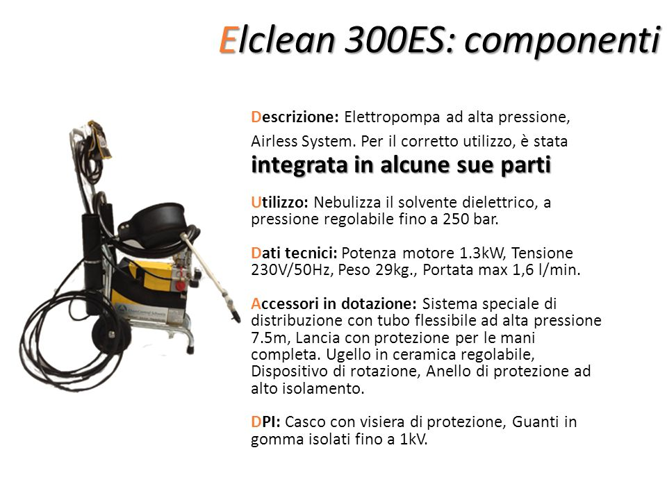 Elclean 300ES: componenti