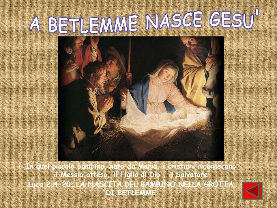 Luca 2,4-20: LA NASCITA DEL BAMBINO NELLA GROTTA DI BETLEMME
