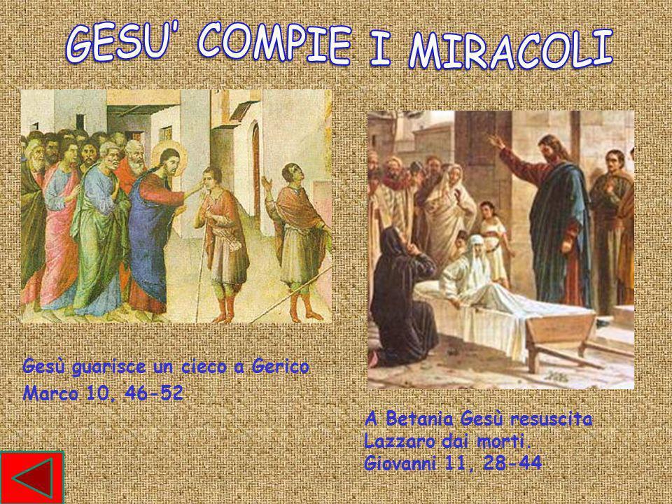 GESU' COMPIE I MIRACOLI