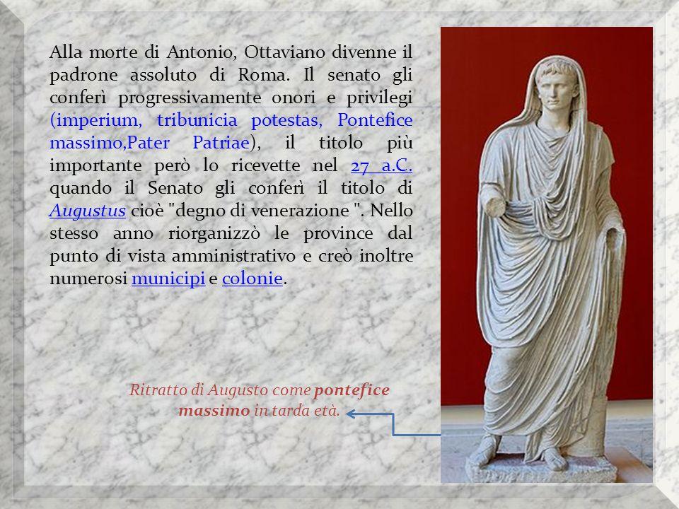 Ritratto di Augusto come pontefice massimo in tarda età.