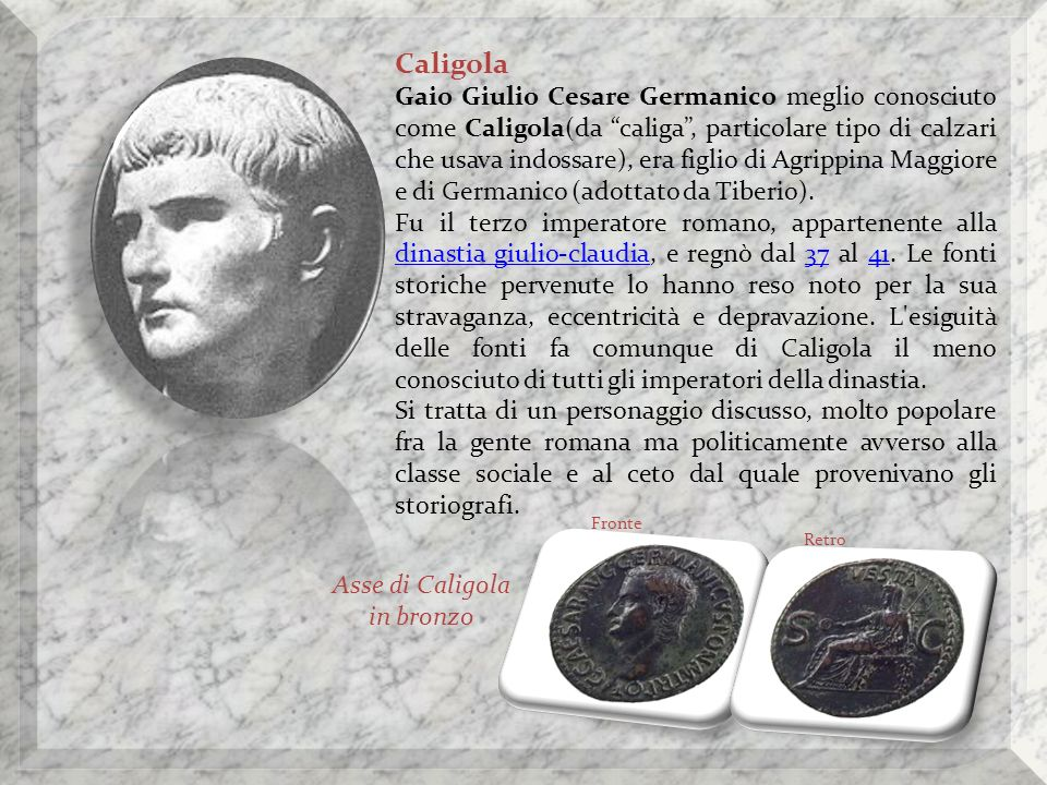 Asse di Caligola in bronzo