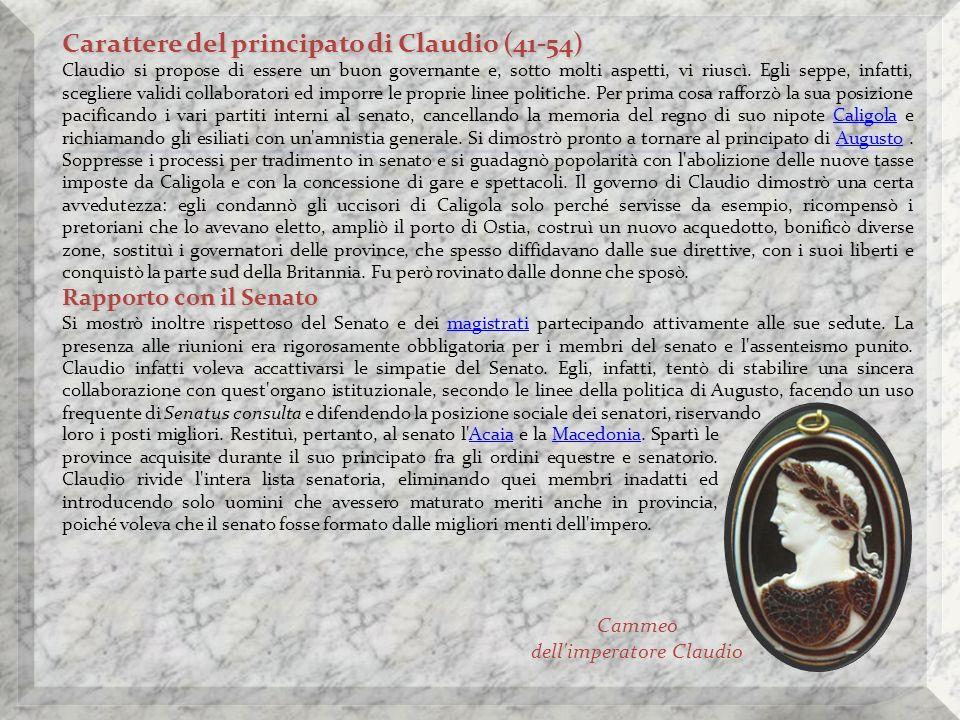 Cammeo dell imperatore Claudio