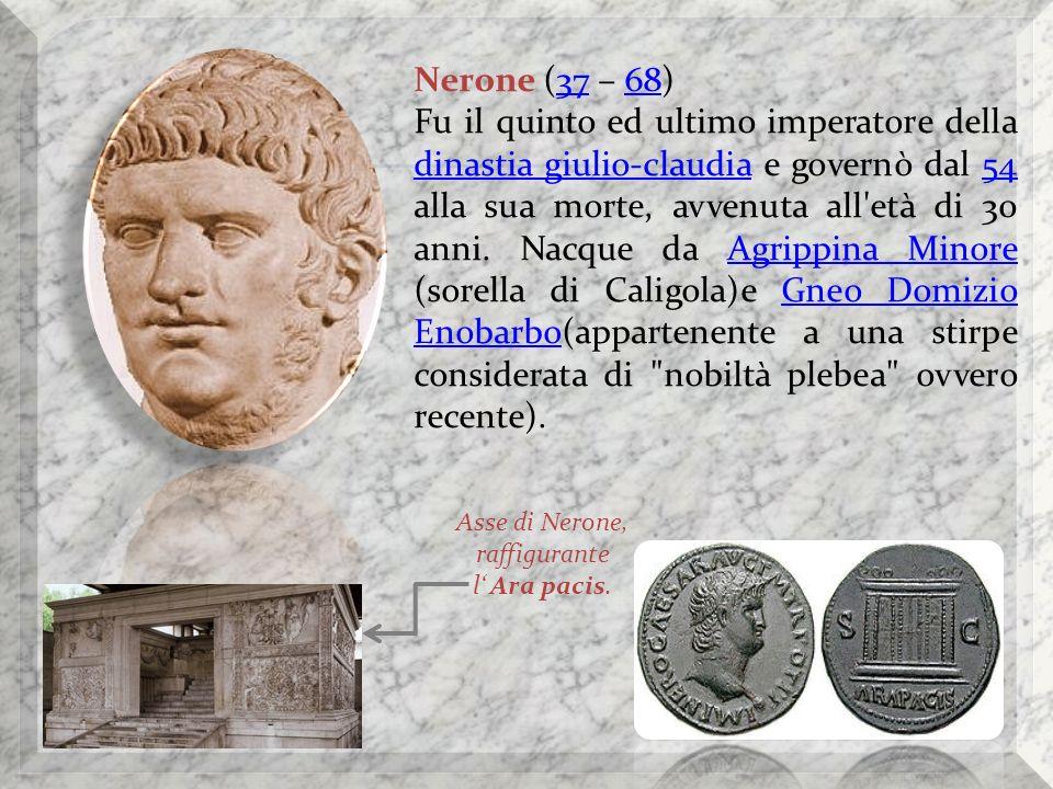 Asse di Nerone, raffigurante l' Ara pacis.