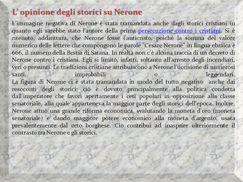 L' opinione degli storici su Nerone