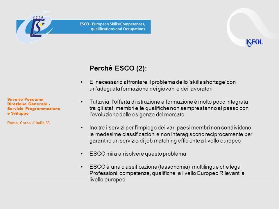 Perchè ESCO (2): E' necessario affrontare il problema dello 'skills shortage' con un'adeguata formazione dei giovani e dei lavoratori.