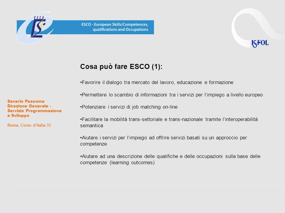 Cosa può fare ESCO (1): Favorire il dialogo tra mercato del lavoro, educazione e formazione.