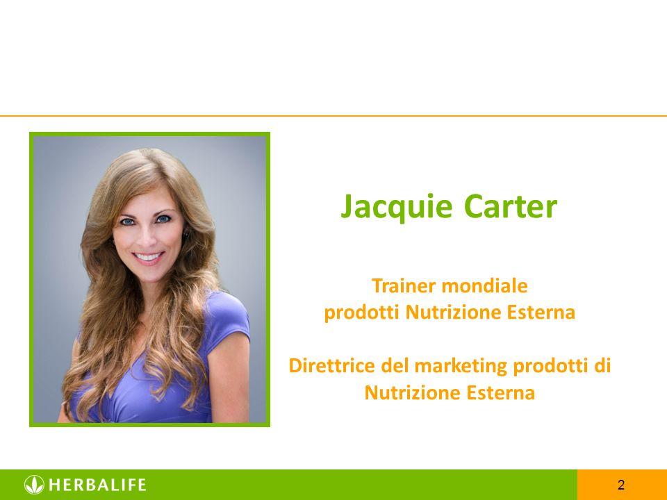 Jacquie Carter Trainer mondiale prodotti Nutrizione Esterna