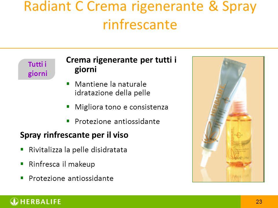 Radiant C Crema rigenerante & Spray rinfrescante