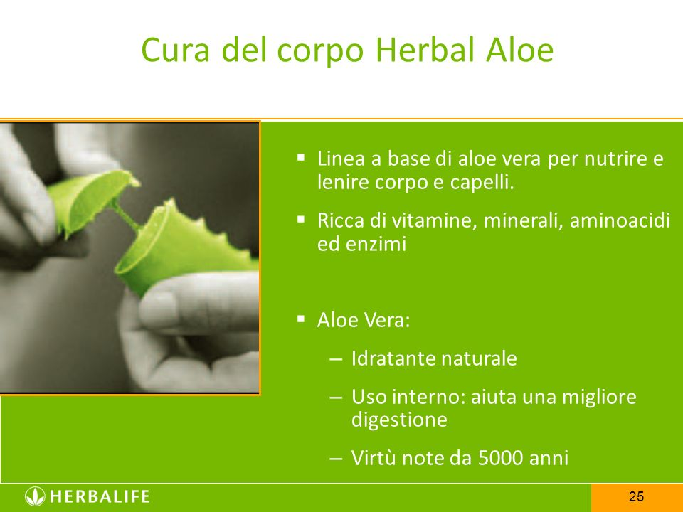 Cura del corpo Herbal Aloe