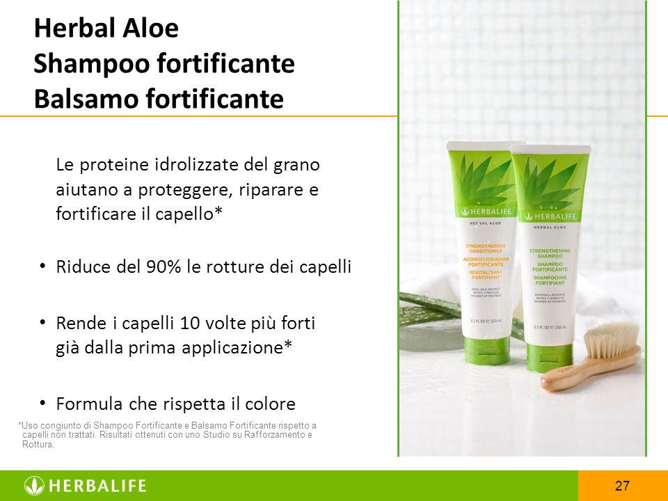 Herbal Aloe Shampoo fortificante Balsamo fortificante