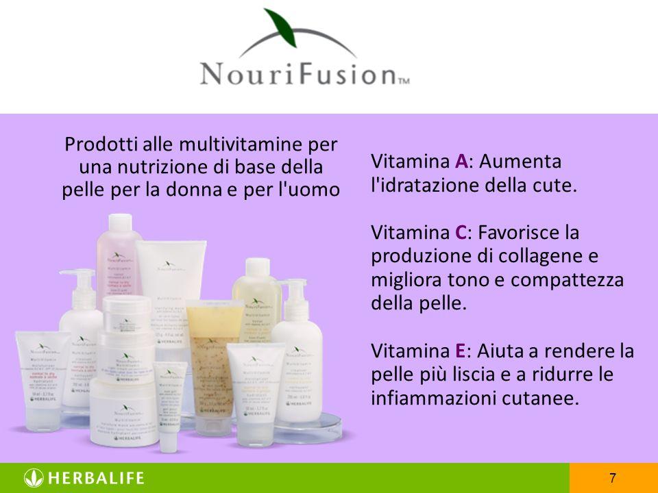 Vitamina A: Aumenta l idratazione della cute.
