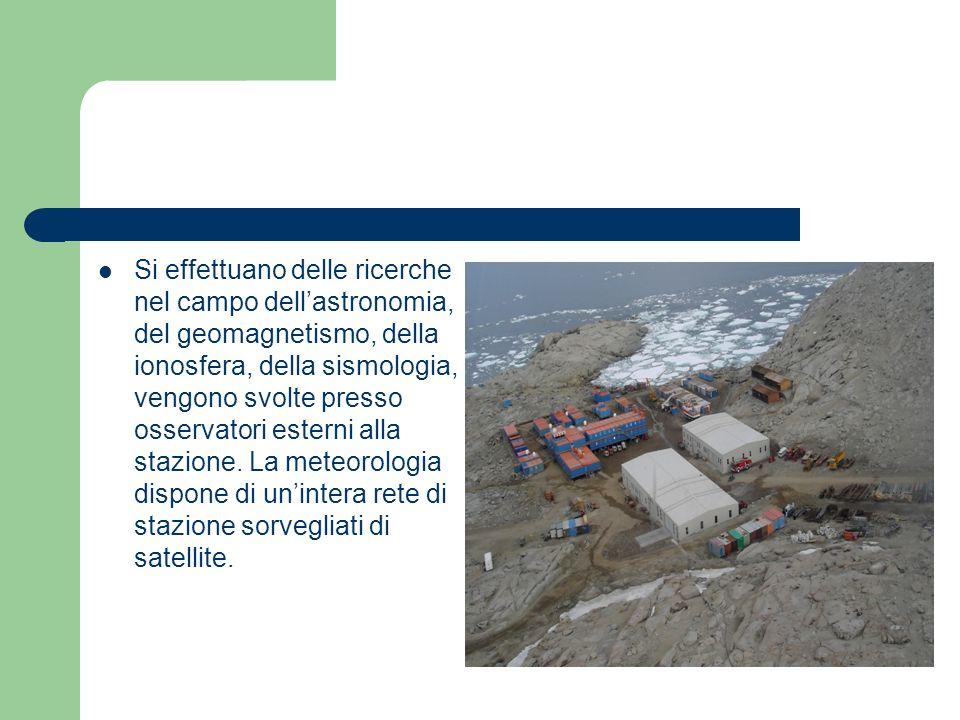 Si effettuano delle ricerche nel campo dell'astronomia, del geomagnetismo, della ionosfera, della sismologia, vengono svolte presso osservatori esterni alla stazione.